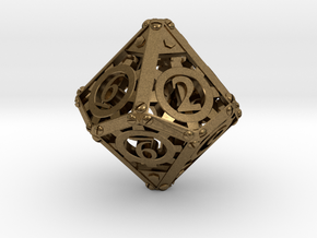 Steampunk d10 in Natural Bronze
