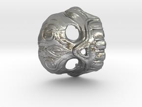 Dr. K Skull Pendant in Natural Silver