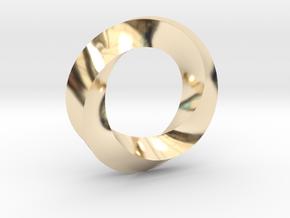 Mobius Ring Pendant in 14K Yellow Gold