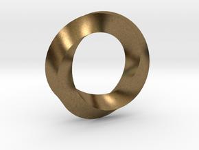 Mobius Ring Pendant in Natural Bronze
