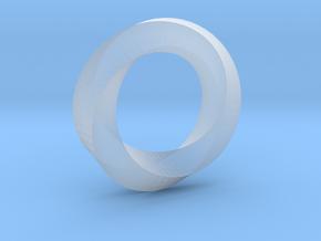 Mobius Ring Pendant in Smooth Fine Detail Plastic