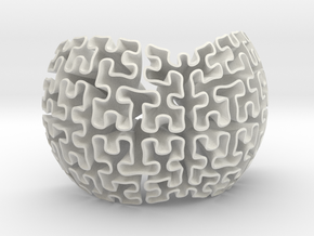 1/3 Hilbert Sphere in White Natural Versatile Plastic