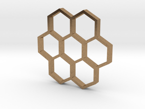honeycomb pendant in Natural Brass