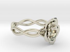 Rose Ring in 14k White Gold