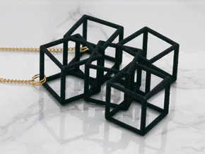Metaesquema Pendant in Black Strong & Flexible