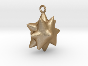 Chubby Star Pendant.  in Matte Gold Steel