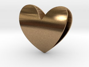 Heart 1 in Natural Brass