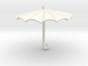Umbrella in White Natural Versatile Plastic