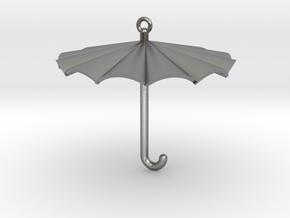 Umbrella Charm in Natural Silver