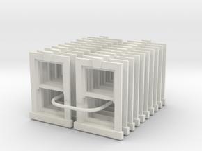 Type X2 Windows 1200 x 900 - 4mm Scale in White Natural Versatile Plastic