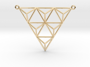 Tetrahedron Pendant 2 in 14K Yellow Gold