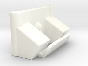 NIX91-027 Front bulkhead (30deg) in White Processed Versatile Plastic