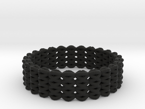 Kids FlexiBracelet in Black Natural Versatile Plastic