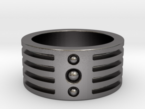 Multiband Ring (US 7) in Polished Nickel Steel