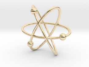 Atom Pendant in 14K Gold