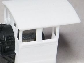 HOn30 Cab for 2-8-0 steam loco, mk.1 in White Processed Versatile Plastic