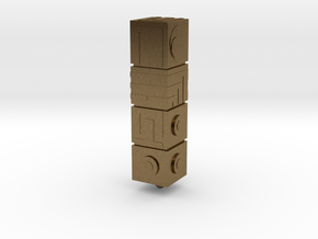 Monument Valley - The Totem keyring in Natural Bronze