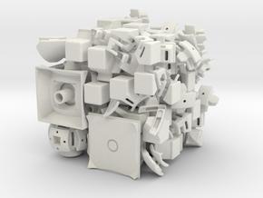 Venus DoDep 3x3x3 in White Natural Versatile Plastic