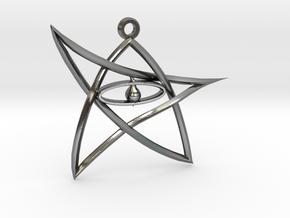 ElderSign Pendant in Polished Silver