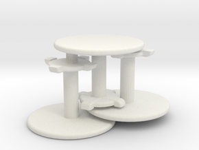 Round Tables X3 HO in White Natural Versatile Plastic