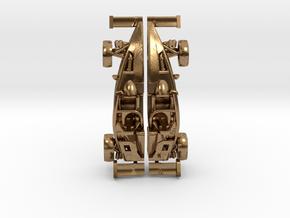 Ariel Atom earrings, 109th scale LHD w/wings in Natural Brass