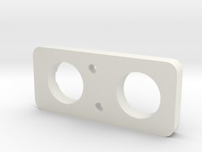 Spitfire Spade grip Back Plate Cannon Button in White Natural Versatile Plastic