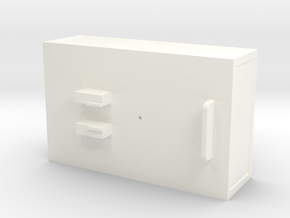 Ballastbox-22mmhigh in White Processed Versatile Plastic