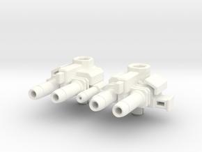 Skids' Forearm Blasters in White Processed Versatile Plastic