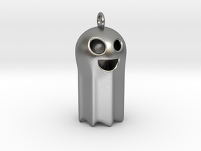 Smiley Ghost  in Natural Silver