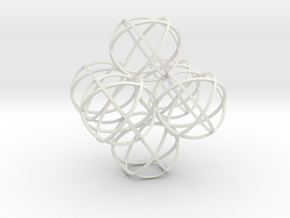 Packed Spheres Octahedron in White Natural Versatile Plastic