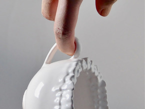 Teeth Tea Cup in Gloss White Porcelain