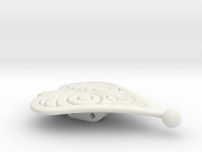 Frozen - Anna's Cloak Clasp - 1 of a pair in White Natural Versatile Plastic