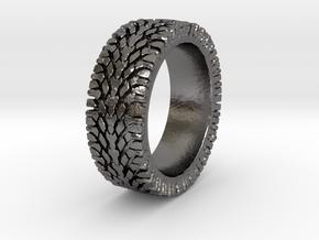 American Sportsman Street Tread Tire Ring in Polished Nickel Steel
