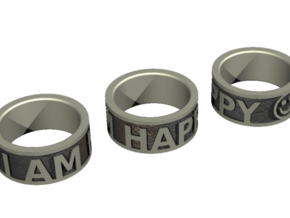 Happy Ring - US Size 7 in Stainless Steel