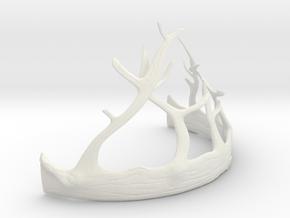 Renly Baratheon Crown Part 2 of 2 in White Natural Versatile Plastic