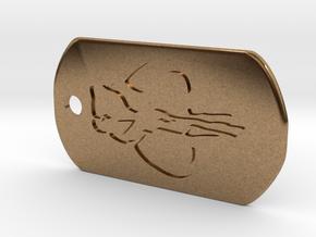 Boba Fett Dog Tag in Natural Brass