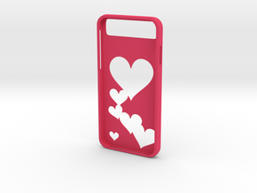 Iphone 6 Hearts Case in Pink Strong & Flexible Polished