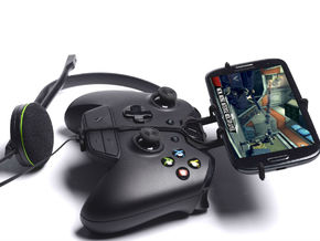 Xbox One controller & chat & Samsung I9100G Galaxy in Black Natural Versatile Plastic