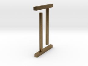 Ear stud 1x1x10mm rectangle eccentric in Natural Bronze