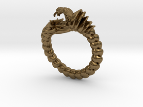 Viper Fish Ring  in Natural Bronze