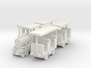 "Besatzungset ""Zug"" 1:87 (H0 scale) in White Natural Versatile Plastic"