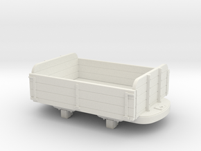 Gn15 3 plank dropside wagon  in White Natural Versatile Plastic