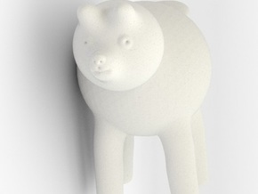 Doggy in White Natural Versatile Plastic