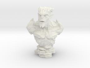 Gargoyle Bust 1 (4.5in - 11.4cm) in White Natural Versatile Plastic