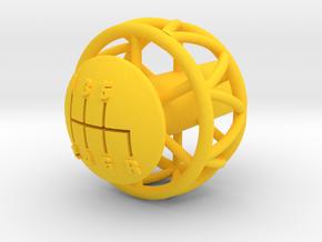 Ariel Atom 6 Speed knob for Ecotec - Helicoil in Yellow Processed Versatile Plastic