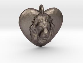 LEO LOVE in Polished Bronzed Silver Steel