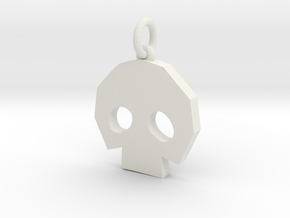 Gold Skulltula token pendant in White Natural Versatile Plastic: Medium