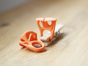 MYCELIUM - Ring size 6/16mm in Orange Strong & Flexible Polished