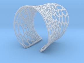 Voronoi bracelet #2 (MEDIUM) in Frosted Ultra Detail