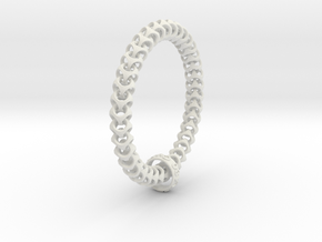 Cubichain Bracelet (Multiple sizes) in White Strong & Flexible